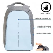 XD Design Bobby Compact kuprinė su apsauga nuo vagių, Pastel Blue