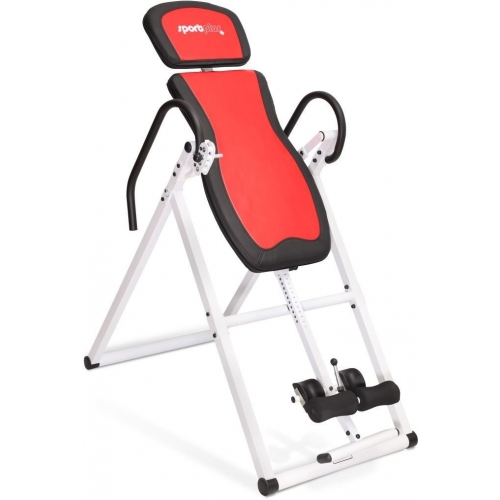 SportPlus Inversion table/Gravity trainer inversinis stalas, baltas/raudonas