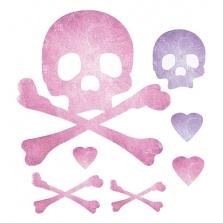 Wallies interjero lipdukai Kaukolės Pink