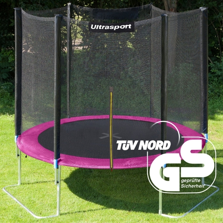 251cm/120kg Ultrasport rožinis batutas